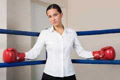 Bossy woman Royalty Free Stock Photography