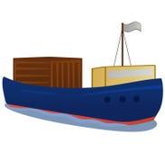 Bost del cargo con el rectángulo grande stock de ilustración