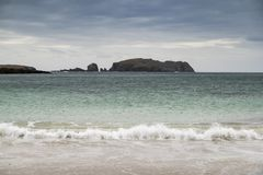 Bosta Beach on the Isle of Lewis in Scotland. Bosta Beach on the Isle of Lewis in the Outer Hebrides royalty free stock photo