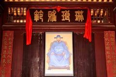 Bostads- arkitektur för kinesisk tradtionalHakka Arkivfoto