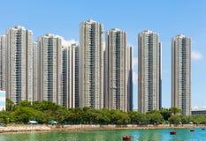 Bostads- byggnad i Hong Kong royaltyfria foton