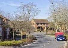 Bostads- byggnader av Milton Keynes Royaltyfria Foton