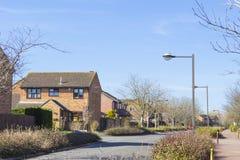 Bostads- byggnader av Milton Keynes Royaltyfria Bilder