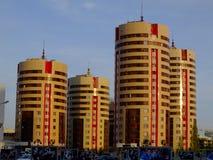 Bostads- byggnader i Astana Fotografering för Bildbyråer