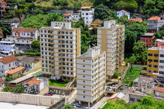 Bostads- byggnader i det Santa Teresa området, Rio de Janeiro, Brasilien arkivfoton