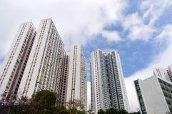 Bostads- byggnader i Hong Kong Arkivbilder