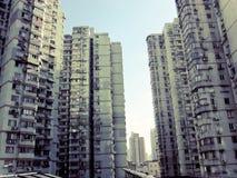 Bostads- byggnader Kina för höghus Royaltyfria Foton