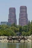 Bostads- byggnader på Mexico - stad royaltyfri bild