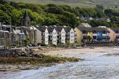 Bostads- byggnader på stranden Arkivfoto