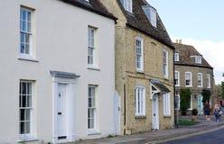 Bostads- gata i Ely, Cambridgeshire Royaltyfria Foton