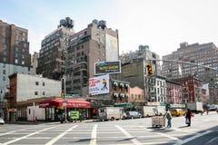 Bostads- grannskap i Manhattan Arkivfoton