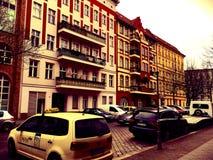 Bostads- grannskapar i Berlin, Tyskland arkivbild