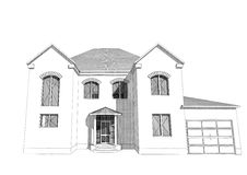 Bostads- hus 3D Arkivbilder