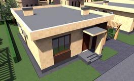 Bostads- hus 3D Fotografering för Bildbyråer