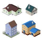 Bostads- husbyggnader Arkivfoto