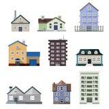 Bostads- husbyggnader Arkivbild