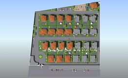 Bostads- komplex för generalplan Arkivfoton