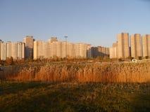 Bostads- komplexa Highvill arkivbilder