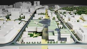 Bostads- komplexa Irkutsk (tolkningen 3d) Arkivbild