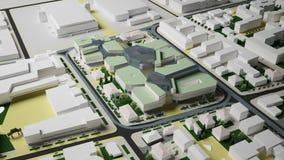 Bostads- komplexa Irkutsk (tolkningen 3d) Arkivfoto