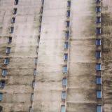 Bostads- kvarterbyggnad för kommunistisk era Arkivbilder