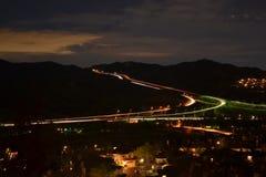 Bostads- nattlandskap Fotografering för Bildbyråer