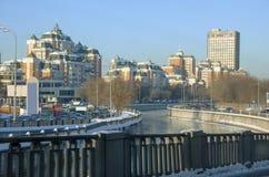 Bostads- område för Moskva. Arkivbilder