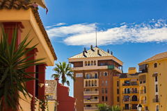 Bostads- område i Valencia Arkivfoton