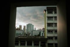 Bostads- område i Singapore Fotografering för Bildbyråer