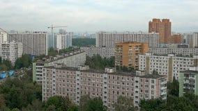 Bostads- stadsområde av Moskvastaden arkivfilmer