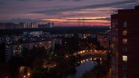 Bostads- stadsområde av Moskvastaden Timelapse stock video