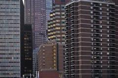 Bostads- struktur av New York. Arkivbilder