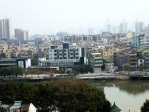 Bostads- villor i Guangzhou, Kina Arkivbilder