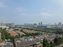 Bostads- villor i Guangzhou, Kina Arkivfoton
