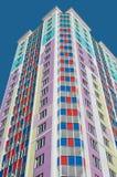 bostadsfärgrikt hus Arkivfoto