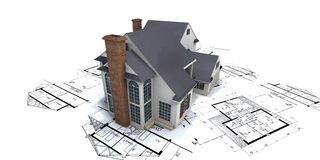 bostadshus plans2 Royaltyfria Foton