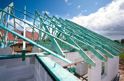 bostadskonstruktion Fotografering för Bildbyråer