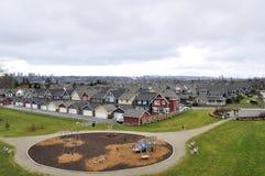 bostadsområde Arkivbild