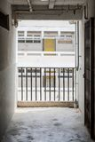 Bostadsområde för korridor offentligt, Hong Kong fotografering för bildbyråer