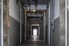 Bostadsområde för korridor offentligt, Hong Kong arkivbilder