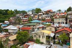 Bostadsområde i den Cebu staden, Filippinerna Arkivbilder