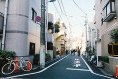 Bostadsområde i det Nake-Meguro området, Tokyo Arkivbilder