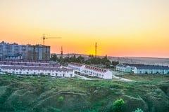 Bostadsområde i staden av Belgorod Arkivfoto