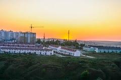 Bostadsområde i staden av Belgorod royaltyfria foton