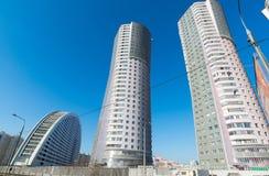 Bostadsområdetusen dollar parkerar i Moskva, Ryssland Fotografering för Bildbyråer