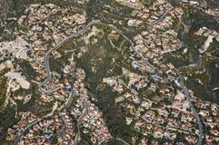 bostadssikt för flyg- område Royaltyfri Foto