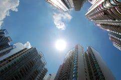 bostadsstigning för byggnader high Royaltyfria Bilder