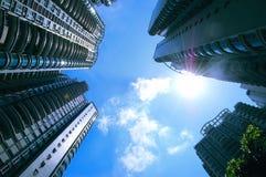 bostadsstigning för byggnader high Arkivbilder