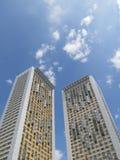 bostadsstigning två för byggnader high Arkivbild