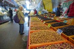Bostanli/Izmir/Турция, 20-ое февраля 2019, рынок базара Bostanli прованский стоковое фото